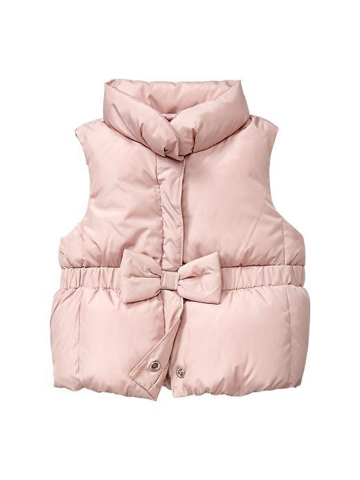 bow puffer vest. #gapkids