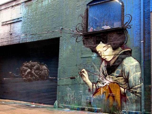 Artist: DAL x Faith 47; Chelsea, New York City, New York