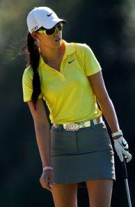 Michelle Wie _ a fun, fresh golf outfit!