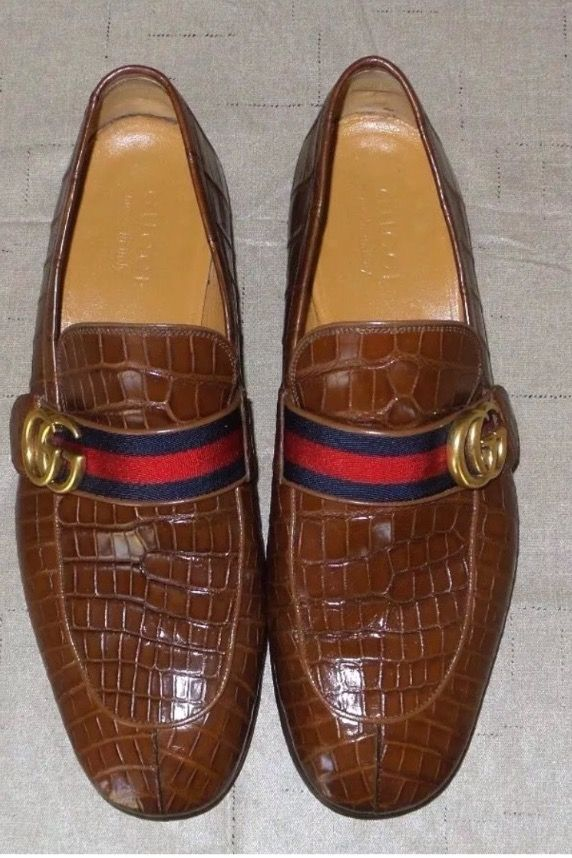 d4a6631d3e1 Gucci Crocodile Shoes.