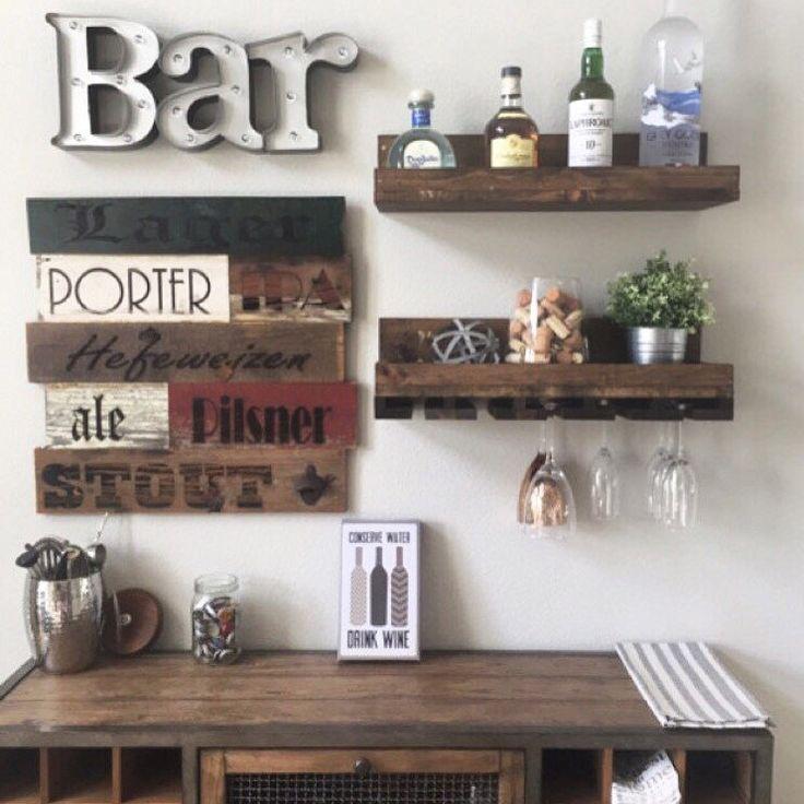 24 Rustic Wood Wine Rack Shelf