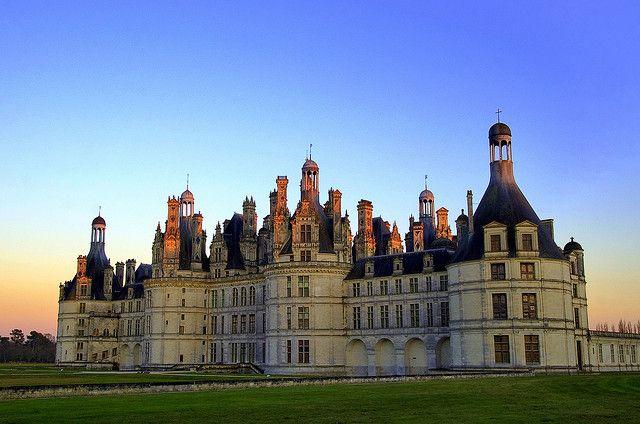 Le château de Chambord, site classé UNESCO, Chambord, France!