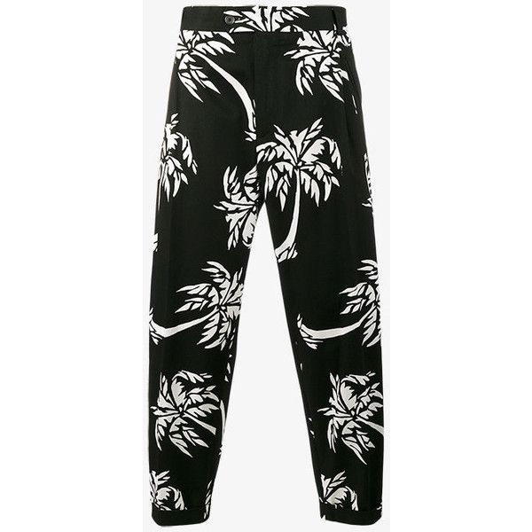 Dolce & Gabbana palm tree print cropped trousers (23 620 UAH) ❤ liked on Polyvore featuring men's fashion, men's clothing, men's pants, men's casual pants, mens summer pants, dolce gabbana mens pants, mens beach pants, mens cropped pants and men's relaxed fit pants
