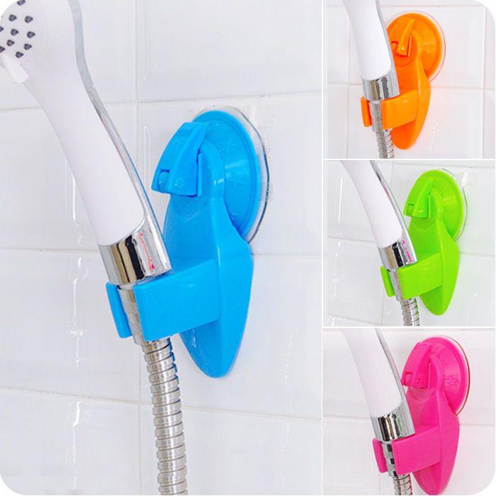 Adjustable Plastics Bathroom Faucet Vacuum Holder Wall Sucker Hook Shower Head