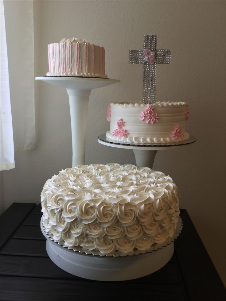 Baptism girl cake!