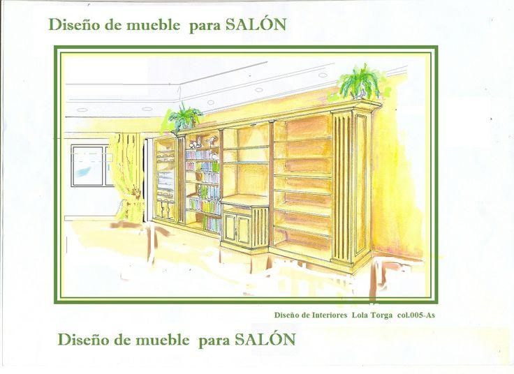 Mueble para salón con diseño personalizada