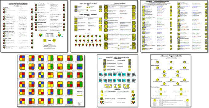 Printable Rubik's Cube Guides (PDFs for 2x2x2 - 5x5x5)