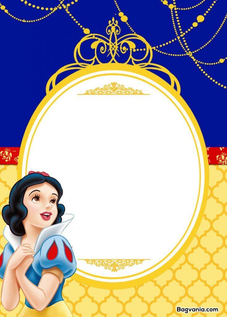 Free Printable Snow White Birthday Invitations Snow White