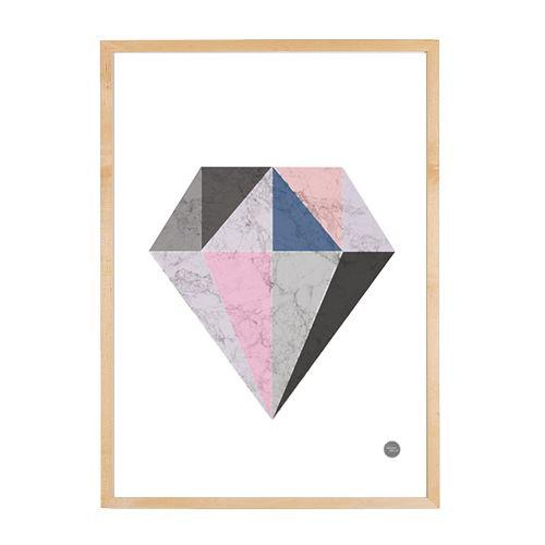Geo Diamond - Free Printable #wallprint #scandicwallprints