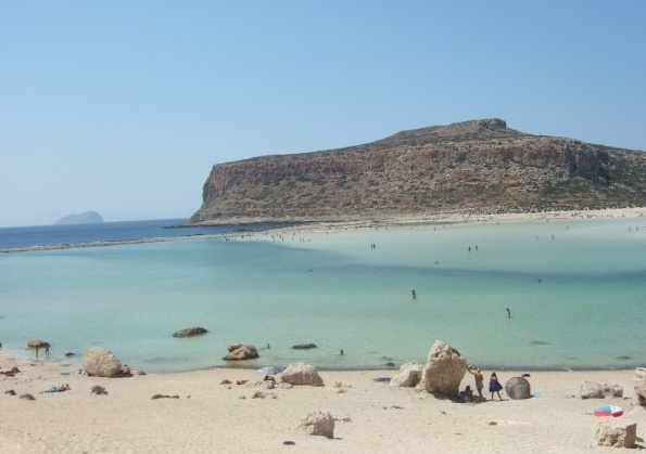 This is the magic of Balos, endless turquoise beach, ankle deep for meters and meters...