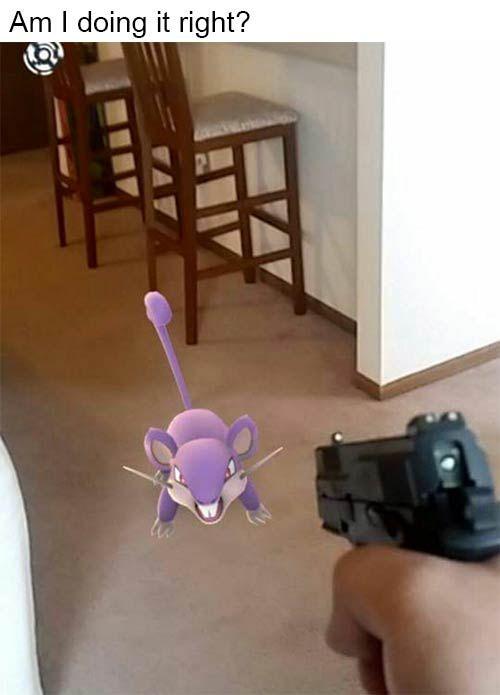 pokemon go funny doing it right