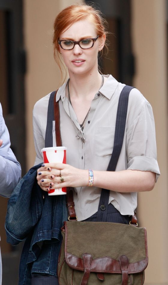 Deborah Ann Woll - I like her looking kind of nerdy! but niiice!!