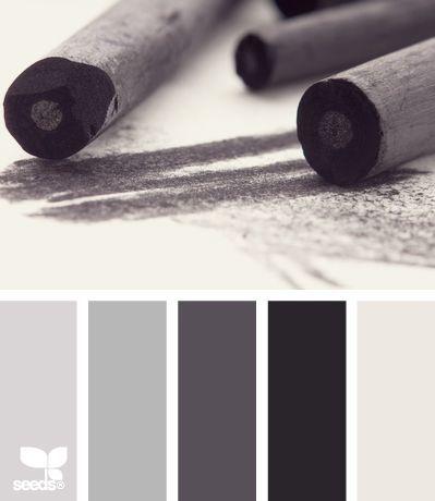 Kleuren pallet, grijstinten!
