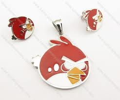 Red angry birds jewlry