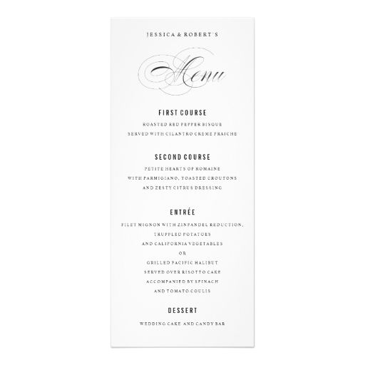 Best Custom Wedding Menu Cards Images On   Menu