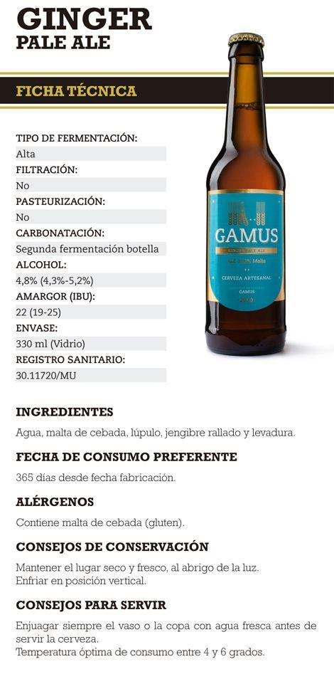 Cerveza Gamus Ginger Pale Ale, disponible en La Bodeguilla