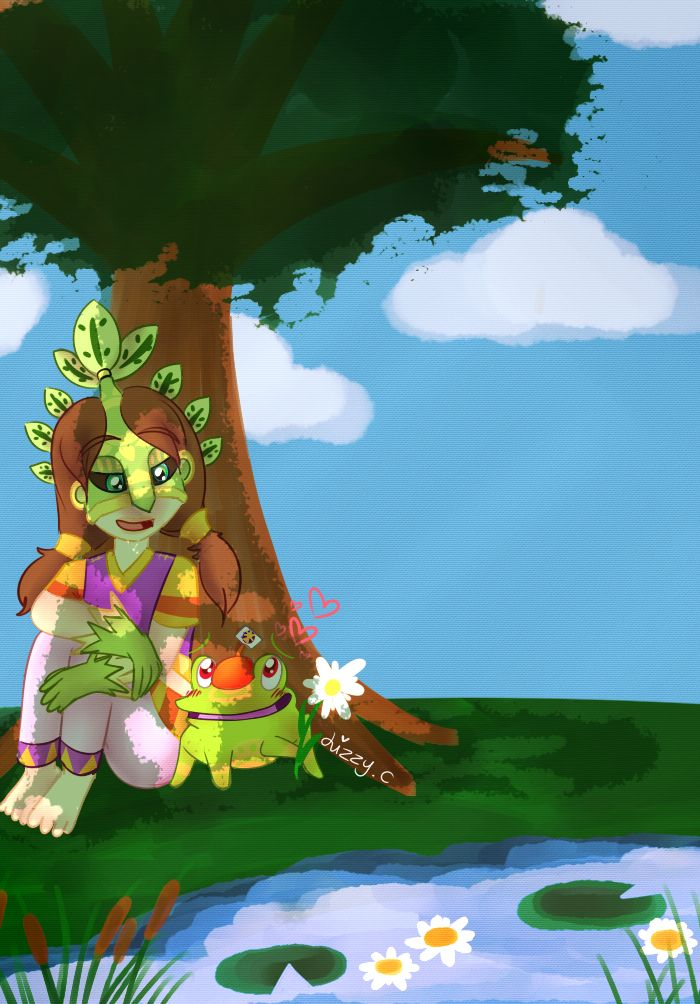Leafos And The Lickatoad Commission By Miss Lizzifer Deviantart Com On Deviantart Deviantart Pinata Art