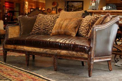 Western Rustic Sofa: Westerns Interiors, Living Rooms, Leather Sofas, Rustic Interiors, Interiors Design, Rustic Style, Studios Couch, Rustic Sofas, Design Photos