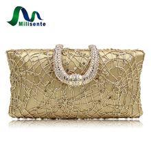 Milisente Gold Wedding Clutches Women Evening Party Bags Lady Day Clutch Luxury Purse Designer Wholesale Handbags