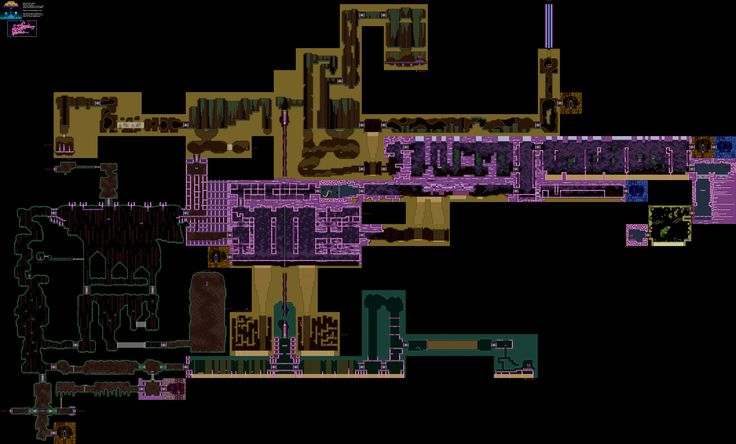 Super Metroid, Map of Maridia