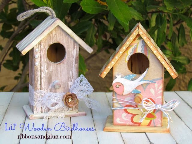 DIY Shabby Chic and Whimsical Birdhouses  #modpodge