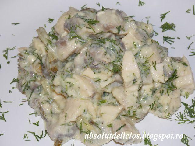 Mushroom chicken salad