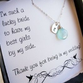 Set of 5: five personalized Bridesmaid gifts $154.00
