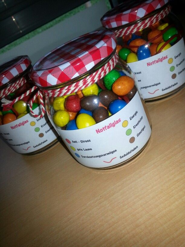 Gift Glas Smarties M&Ms