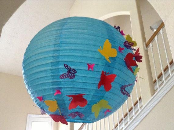 14 Quot Tropical Paradise Paper Lantern Butterfly Lantern