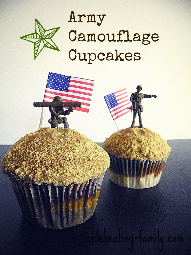 Army Camouflage Cupcakes - Fun and Easy to Make