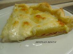 TORTA SALATA CON PROSCIUTTO E PATATE - ricetta gustosa http://blog.giallozafferano.it/semplicibonta/torta-salata-con-prosciutto-e-patate-ricetta-gustosa/