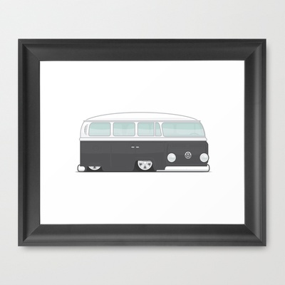 Low VW Bus Framed Art Print by leducland - $32.00