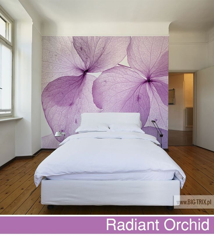 PANTONE 2014: Radiant Orchid floral wallpaper by Big-trix.pl | #pantone #pantone2014 #wallpaper #floral #radiantorchid