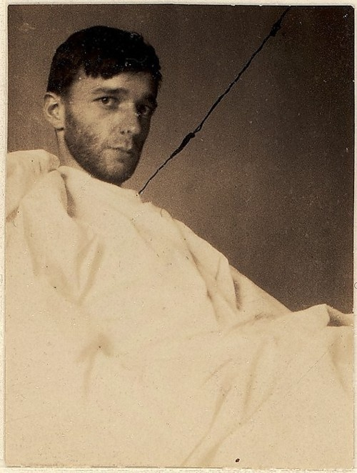 Walker Evans, Self-portrait in New York Hospital Bed  Im not sure if I consider this B&W or color....