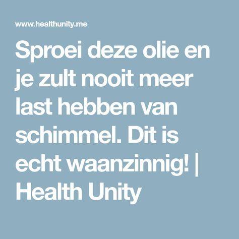 Sproei deze olie en je zult nooit meer last hebben van schimmel. Dit is echt waanzinnig!   Health Unity