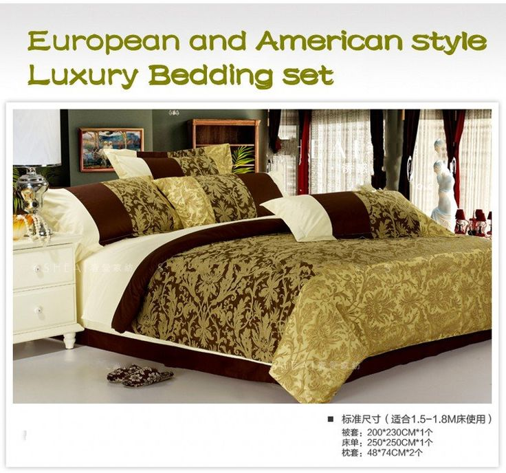 Luxury Bedding | ... Bedding Set Queen Size Imitated Silk Comforter Sets  Bed Sheet