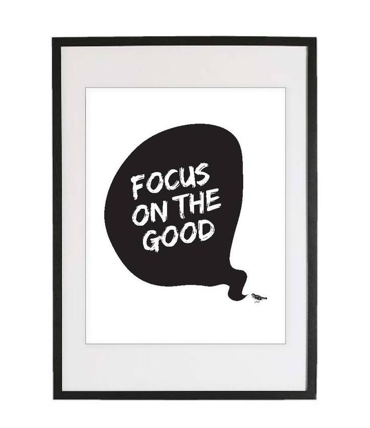 """Focus on the Good"" Giclee Print"