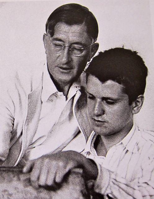 Josef Albers teaching Robert De Niro Sr. (father of the actor) Drawing Class at Black Mountain College, 1939