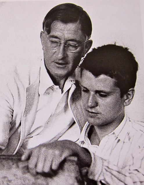 Josef Albers teaching Robert De Niro Sr. (father of the actor) Drawing Class at Black Mountain College, 1939