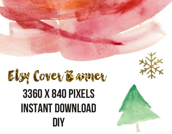 DIY Instant download Etsy Cover Banner Shop Christmas Cover Shop Banner Etsy premade DIY Banner 3360X840 pixels by Paffle Design