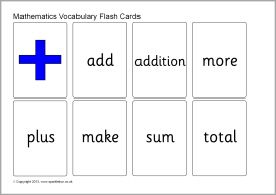 Maths vocabulary flash cards - small (SB9773) - SparkleBox
