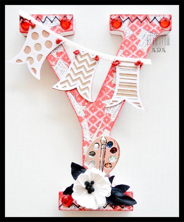 Creativa4all scrapbooking con y de yocalsa letras decoradas creativa4all pinterest - Letras decoradas scrap ...