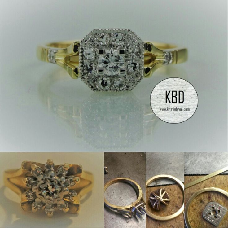 A ring I remade just a few weeks ago, from old fashioned to modern bling in less than 6 weeks. All my work is handmade and solid,to last the wear and tear of everday use. This ring and all my stock is Hand made at Kristin Bree Designs.
