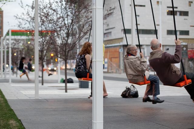 Designing for health is.. designing for attractive choices of physical activity. This could be your busstop!