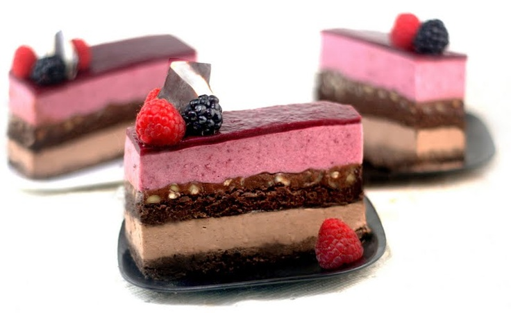 Chocolate Panna Cotta - Berry Mousse Cakes with Hazelnut Ganache | A ...