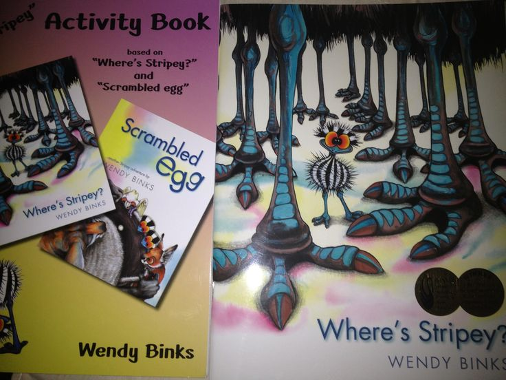 'Where's Stripey' by Wendy Binks with activity book. Great Australian resource by local WA artist & winner of the Western Australian Premier's Book Award. Great classroom resource and activities target comprehension, fine motor skills and vocabulary.