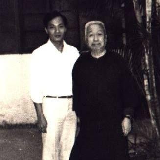 Maître Tan Ching Ngee avec le grand maître Cheng Man Ching.
