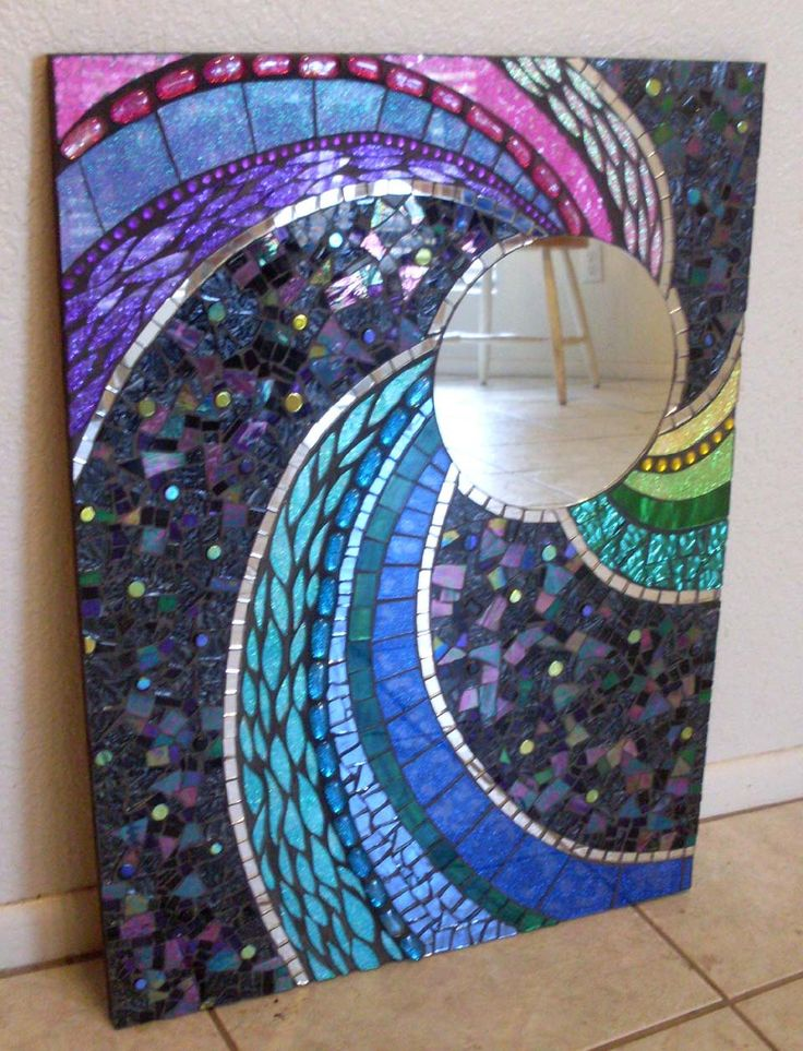 spoiledrockin   Large and Colorful Handmade Glass Mosaic Mirrors