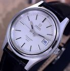 OMEGA SEAMASTER COSMIC 2000 AUTOMATIC DATE WHITE DIAL DRESS MEN'S WATCH