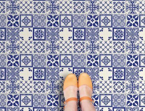 Azulejos Vinyl Flooring Retro Vinyl Floor Tile Sample So